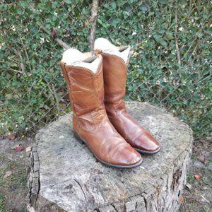 Acne Hawkeye Brown Roper Western Cowboy Boots
